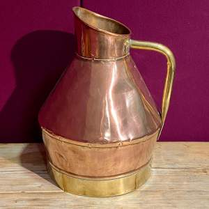 Large Victorian Copper and Brass Milk Can
