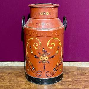 Vintage Hand Painted Kitchen Milk Churn