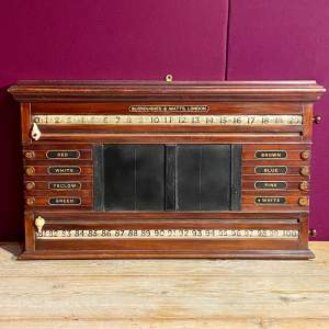 Antique Burroughes and Watts Snooker Scoreboard