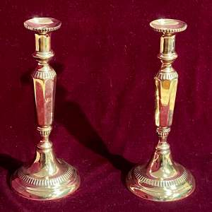 Pair of Early 19th Century Brass Candlesticks