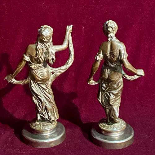 Pair of 19th Century French Bronze Figures of Women image-6