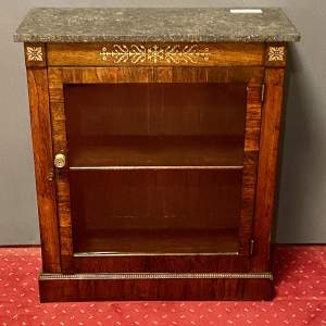 Regency Rosewood Marble Topped Pier Cabinet