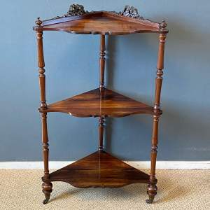 Victorian Rosewood Three Tier Whatnot