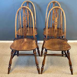 Set of Four Victorian Windsor Dining Chairs