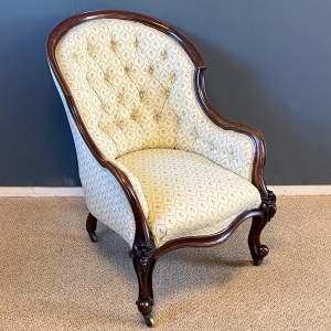 Victorian Walnut Spoon Back Armchair