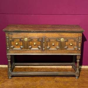 Early 20th Century Oak Two Drawer Dresser