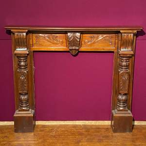 Carved Mahogany Fire Place Surround