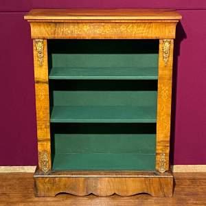 19th Century Walnut Pier Bookcase