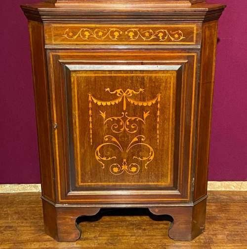 Edwardian Mahogany Inlaid Corner Cabinet image-2