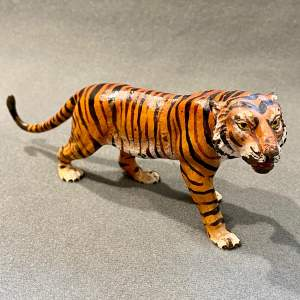 Franz Bergman Cold Painted Bronze Tiger