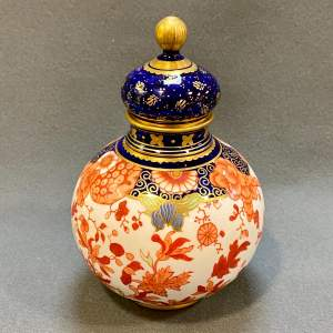 Royal Crown Derby Imari Pattern Lidded Jar