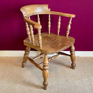 19th Century Elm Captains Chair