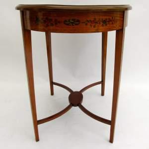 Edwardian Satinwood Oval Centre Table