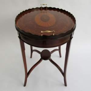 Edwardian Inlaid Mahogany Tray Table