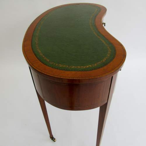 Pretty Edwardian Inlaid Kidney Shaped Ladies Writing Desk image-5