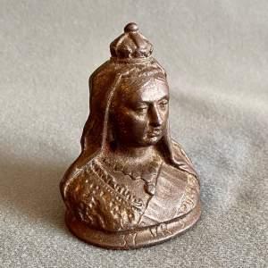 19th Century Queen Victoria's Diamond Jubilee Bronze Paperweight