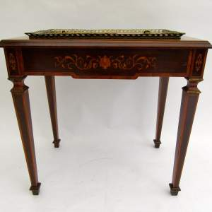 Victorian French Walnut and Burr Maple Marquetry Inlaid Planter