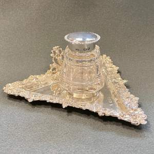 Chester 19th Century Silver Inkwell