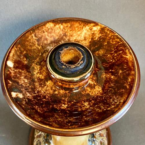 Royal Doulton Lambeth Linnie Watt Candle Stick image-2