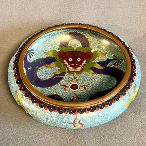Chinese Cloisonne Enamel Dragon Bowl