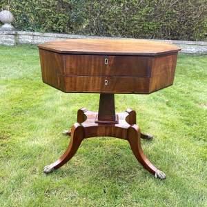 Early 19th Century Mahogany Work Table Sewing Box
