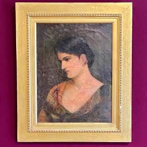 Pre Raphaelite Portrait of a Lady