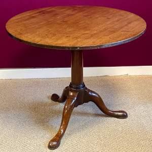 George II Mahogany Tilt Top Occasional Table