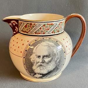 19th Century Wedgwood Creamware Longfellow Jug