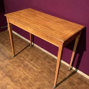 Edwardian Inlaid Satinwood Side Table
