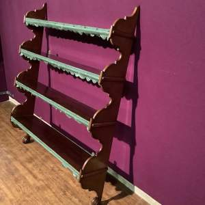 Victorian Mahogany Waterfall Shelves
