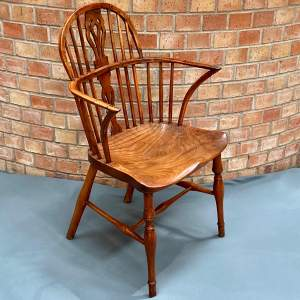 Rare 19th Century Low Back Thomas Simpson Windsor Chair