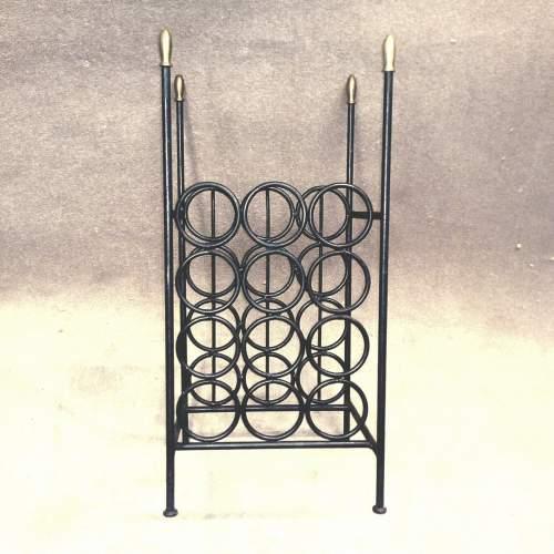 Vintage Wrought Iron Wine Rack image-3