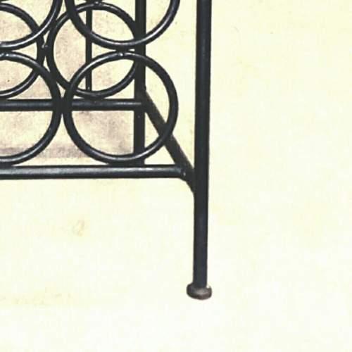Vintage Wrought Iron Wine Rack image-6