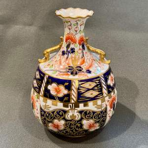 Early 20th Century Royal Crown Derby Handled Vase