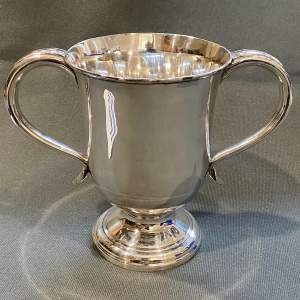Late 19th Century Silver Plated Loving Cup
