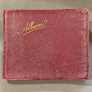 Edwardian Autograph Book with Verse Drawings and Watercolours