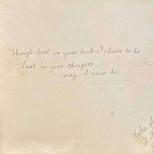 Edwardian Autograph Book with Verse Drawings and Watercolours image-4