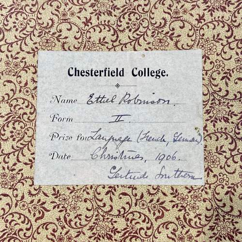 Edwardian Autograph Book with Verse Drawings and Watercolours image-5
