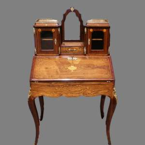 Mid 19th Century Louis XV Style Rosewood Bonheur Du Jour