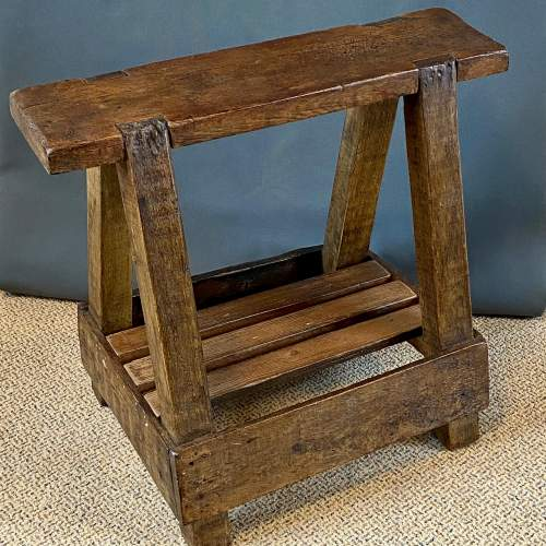 Rustic Vintage Trestle Table or Stand image-1