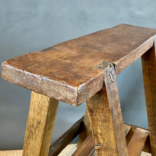 Rustic Vintage Trestle Table or Stand image-2