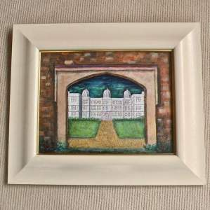 Doddington Hall of Lincoln Painting of Through the Gateway