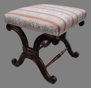 Regency Rosewood Stool