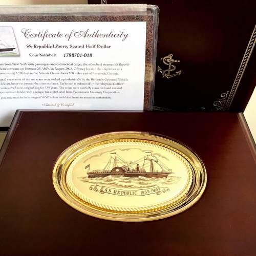 SS Republic Genuine Shipwreck Silver 1/2 Dollars Set image-2