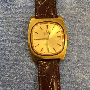 Omega Geneve Automatic With Date Gold Plated Wristwatch