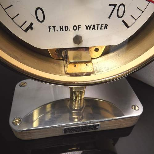 Early 20th Century Up-Cycled Brass Water Gauge Clock Conversion image-3