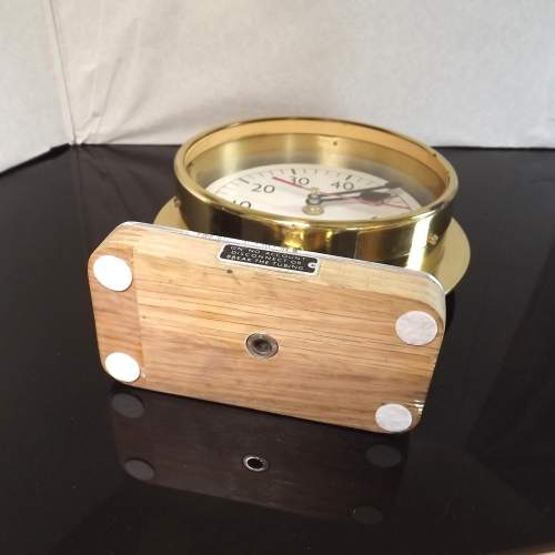 Early 20th Century Up-Cycled Brass Water Gauge Clock Conversion image-5