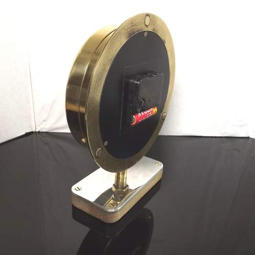 Early 20th Century Up-Cycled Brass Water Gauge Clock Conversion image-6