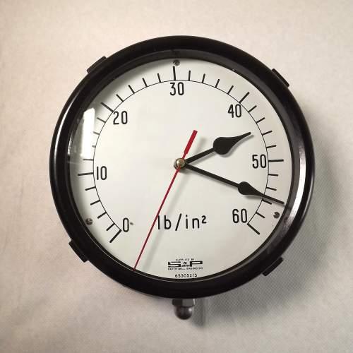 Large Vintage Bakelite Pressure Gauge Wall Clock Conversion image-1