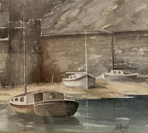 A Fine Watercolour Painting of Castle Harbour by B. Knight